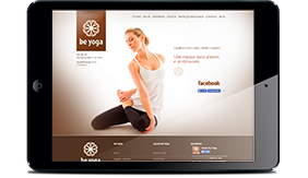Visite o site Be Yoga