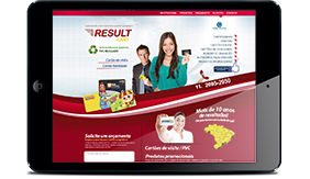 Visite o site Result Card